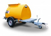 Bunded Fuel Bowser 1135l, road tow with filtered pump